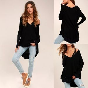 FREE PEOPLE • Laguna black thermal long sleeve